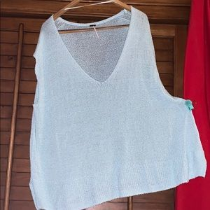 Free People Beach Cover-up Top Sweater Sz Large